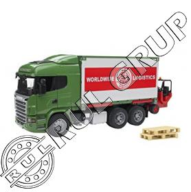 03580B BRUDER SCANIA CONTAINER