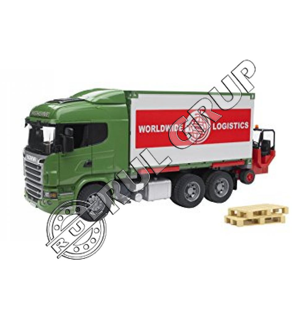03580B BRUDER SCANIA CONTAINER JUCARII | RUL-GRUP.SA